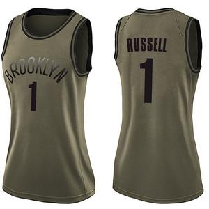 Nike Brooklyn Nets Swingman Green D'Angelo Russell Salute to Service Jersey - Women's